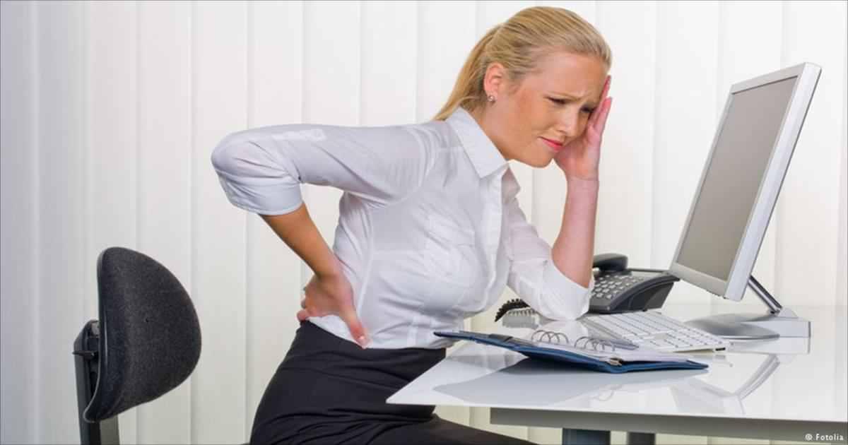 back pain lady